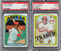 Baseball Cards:Singles (1970-Now), 1972 Topps Joe Morgan #132 and Morgan Traded #752 PSA Mint 9 Pair(2). ...