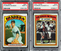 Baseball Cards:Singles (1970-Now), 1972 Topps Thurman Munson #441 and Munson In Action #442 PSA Mint 9Pair (2). ...