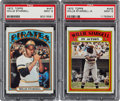 Baseball Cards:Singles (1970-Now), 1972 Topps Willie Stargell #447 and Stargell In Action #448 PSAMint 9 Pair (2). ...