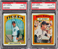 Baseball Cards:Singles (1970-Now), 1972 Topps Billy Martin #33 and Martin In Action #34 PSA Gem MT 10Pair (2). ...