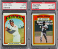 Baseball Cards:Singles (1970-Now), 1972 Topps Hank Aaron #299 and Aaron In Action #300 PSA Graded Pair (2). ...