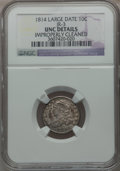 Bust Dimes, 1814 10C Large Date, JR-3, R.2 -- Improperly Cleaned -- NGCDetails. Unc. NGC Census: (0/108). PCGS Population (0/72). Mint...