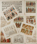 Art:Illustration Art - Mainstream, [Illustration]. Group of Eleven Prints. N.d. Measures 7.5 x 8.75inches, loosely. Depicts various types of native garments f...