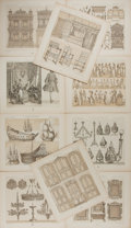 Art:Illustration Art - Mainstream, [Illustration]. Group of Ten Decorative Prints. N.d. Measures 8.5 x7.5 inches, loosely. Originally bound. Light to moderate...