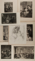 Art:Illustration Art - Mainstream, [Illustration]. Group of Eight Engraved Plates. Various dates.Largest measures 10.5 x 8 inches, loosely. Previously bound i...