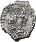Ancients:Roman Imperial, Ancients: Julius Nepos, Western Roman Emperor (AD 475-476). AR half-siliqua (11mm, 0.96 gm, 7h)....