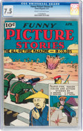 Golden Age (1938-1955):Adventure, Funny Picture Stories #6 (Comics Magazine, 1937) CGC VF- 7.5 Cream to off-white pages....