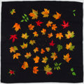 """Luxury Accessories:Accessories, Hermes Black, Green & Orange """"Walk in the Park,"""" by Leigh P.Cook Cashmere Scarf. ..."""