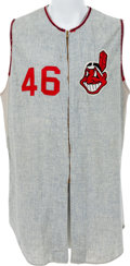 Baseball Collectibles:Uniforms, 1966 Dick Radatz Game Worn Cleveland Indians Jersey....