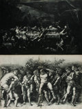 Art:Illustration Art - Mainstream, [Illustration]. Group of Two Prints. N.d. Includes bacchanal sceneand a feast scene. Measures 21 x 14 inches. Previously bo...