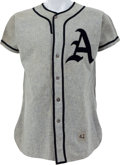 Baseball Collectibles:Uniforms, Early 1950's Philadelphia Athletics Game Worn Uniform, MEARS A9.5....