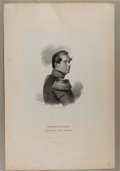 Art:Illustration Art - Mainstream, [Engraving]. Portrait of Friederich Wilhelm. N.d. Measures 12.5 x19.25 inches, loosely. Tipped onto mat. Light, scattered f...