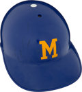 Baseball Collectibles:Others, 1970 Circa Milwaukee Brewers Game Worn Helmet. ...