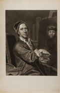 Art:Illustration Art - Mainstream, [Engraving]. J. Jac. Haid. Marcus Friedricus Kleinert. N.d.Measures 19.5 x 12.75 inches, including mat. Tipped in a...