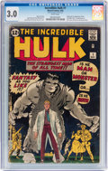 Silver Age (1956-1969):Superhero, The Incredible Hulk #1 (Marvel, 1962) CGC GD/VG 3.0 White pages....