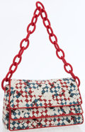 Luxury Accessories:Bags, Bottega Veneta Red, White & Blue Intrecciato Leather ShoulderBag. ...
