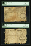 Colonial Notes:South Carolina, South Carolina June 1, 1775 £10 PCGS Apparent Very Fine 20. South Carolina June 1, 1775 £20 PCGS Apparent Fine 15.. ... (Total: 2 notes)