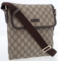 Luxury Accessories:Bags, Gucci Brown Classic Monogram GG Canvas Crossbody Flap Bag. ...
