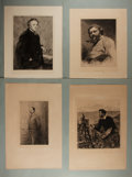 Art:Illustration Art - Mainstream, [Engravings]. Group of Four Engraved Portraits. N.d. Measures 19 x13.75 inches, including mat. Moderate toning. Mild wear t...