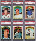 Baseball Cards:Lots, 1972 Topps Baseball Hall of Fame And Star Managers PSA Mint 9Collection (6). ...
