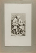 Art:Illustration Art - Mainstream, [Engraving]. William Hogarth. Engraved Caricature of Simon LordLovat. N.d. Mounted. Measures 13.75 x 19.5 inches including ...