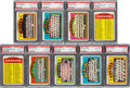 Baseball Cards:Lots, 1972 Topps Baseball PSA Gem MT 10 Teams and Checklists Collection(9). ...