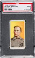 Baseball Cards:Singles (Pre-1930), 1909-11 T206 Piedmont Hugh Jennings, Portrait PSA Mint 9 - Pop Two,None Higher! ...