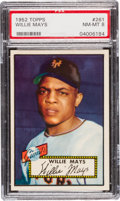 Baseball Cards:Singles (1950-1959), 1952 Topps Willie Mays #261 PSA NM-MT 8....