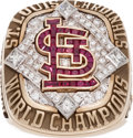 Baseball Collectibles:Others, 2006 St. Louis Cardinals World Championship Ring Presented to StanMusial....