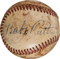 Autographs:Baseballs, 1941 Babe Ruth Single Signed Baseball Given to Stan Musial as aMinor Leaguer....