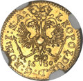 German States:Hamburg, German States: Hamburg. Free City in the name of Leopold gold 1/4 Ducat 1680-HL,...