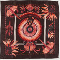 "Luxury Accessories:Accessories, Hermes Brown, Red & Peach ""Brazil,"" by Laurence BarthoumieuxSilk Scarf. ..."