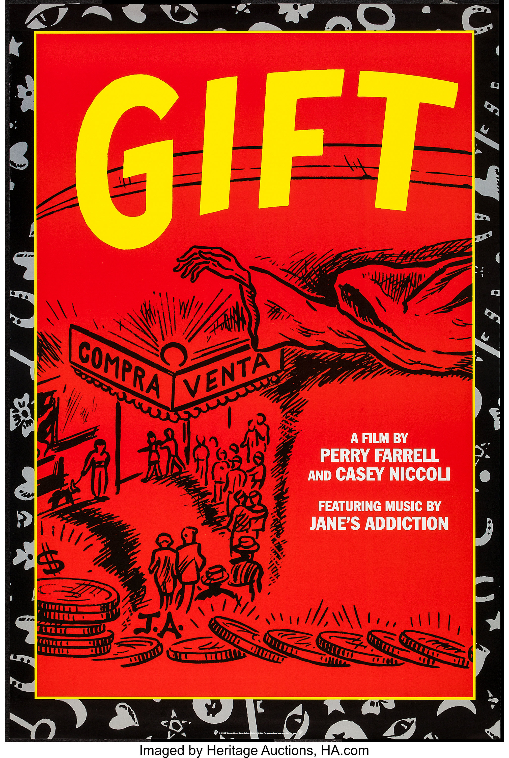 "Gift (Warner Brothers, 1993). One Sheet (24"" X 36""). Rock and ..."
