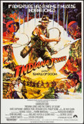 "Movie Posters:Adventure, Indiana Jones and the Temple of Doom (Paramount, 1984). British OneSheet (27"" X 40""). Adventure.. ..."