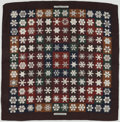 "Luxury Accessories:Accessories, Hermes Brown, Red & Green ""Feux de l'Hiver,"" by ChristianeVauzelles Cashmere Scarf. ..."