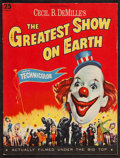 "Movie Posters:Drama, The Greatest Show on Earth (Paramount, 1952). Program (Multiple Pages, 9"" X 12""). Drama.. ..."