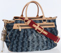 Luxury Accessories:Bags, Louis Vuitton Monogram Denim Cruise Cabas Raye GM Satchel Bag. ...
