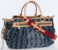 Louis Vuitton Monogram Denim Cruise Cabas Raye GM Satchel Bag