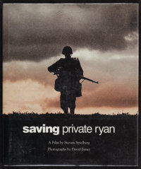 """Saving Private Ryan (New Market, 1998). Autographed Hardbound Book With Dustjacket (10.5"""" X 12.5""""). War"""