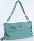 Luxury Accessories:Bags, Tod's Light Blue Leather Shoulder Bag. ...