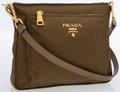 Luxury Accessories:Bags, Prada Olive Nylon Sport Crossbody Bag. ...