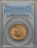 Indian Eagles, 1910 $10 MS63 PCGS....