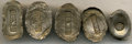 China, China: Qing Dynasty Five-piece Sycee Lot including,... (Total: 5 items)