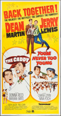 "Movie Posters:Sports, The Caddy/You're Never Too Young Combo (Paramount, R-1964). Three Sheet (41"" X 79"") & Unattached Snipe (8"" X 37.5""). Comedy.... (Total: 2 Items)"