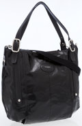 Luxury Accessories:Bags, Tod's Black Patent Leather Tote Bag with Removable Shoulder Strap....