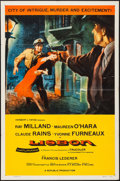 "Movie Posters:Adventure, Lisbon (Republic, 1956). One Sheet (27"" X 41""). Adventure.. ..."