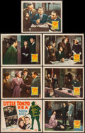 "Movie Posters:War, Little Tokyo, U.S.A. (20th Century Fox, 1942). Title Lobby Card& Lobby Cards (6) (11"" X 14""). War.. ... (Total: 7 Items)"