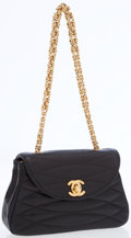 Luxury Accessories:Bags, Chanel Black Lambskin Mini Flap Bag with Gold Hardware. ...