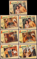 "Movie Posters:Adventure, Adventure Island (Paramount, 1947). Lobby Cards (7) (11"" X 14"").Adventure.. ... (Total: 7 Items)"