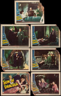 "Movie Posters:Horror, Son of Dracula (Universal, 1943). Title Lobby Card & LobbyCards (6) (11"" X 14""). Horror.. ... (Total: 7 Items)"